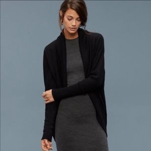 Wilfred black Diderot open cardigan